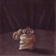 show up anyway - panel I (2008) oil on linen, 20 x 20cm