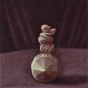 show up anyway - panel II (2008) oil on linen, 20 x 20cm